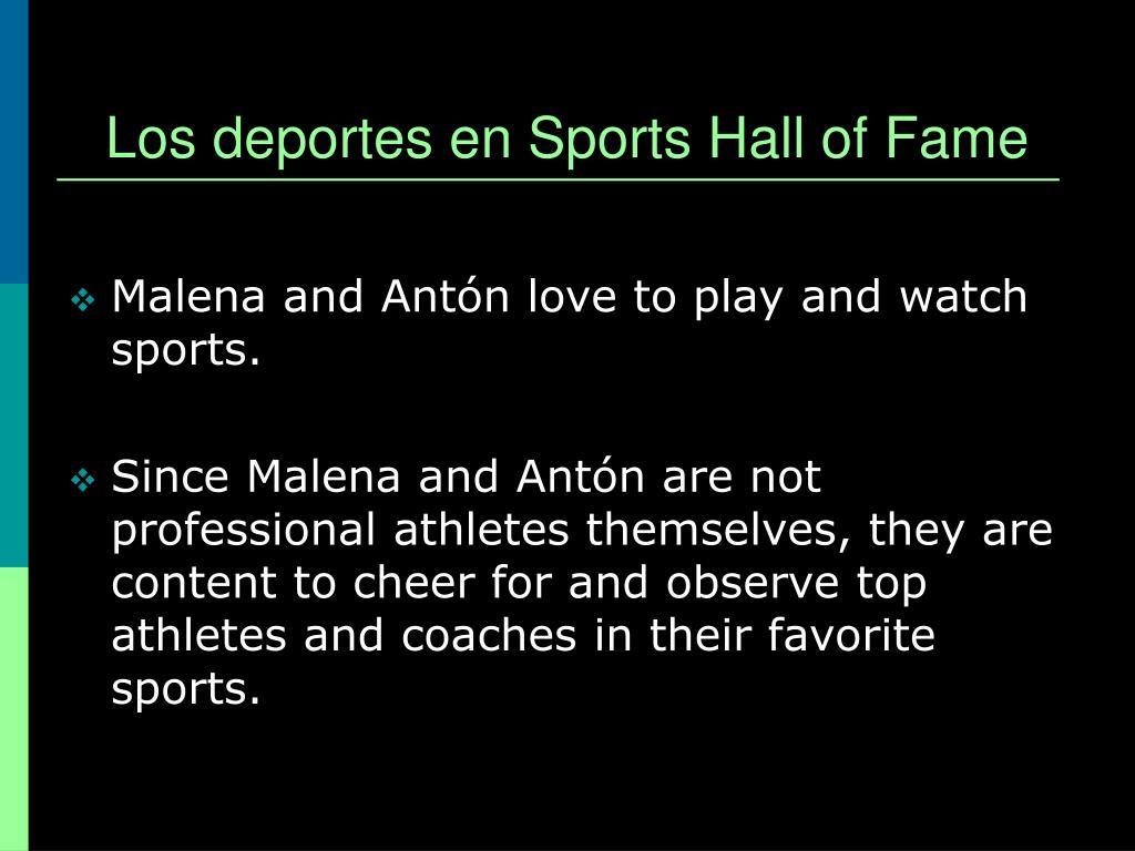 Los deportes en Sports Hall of Fame