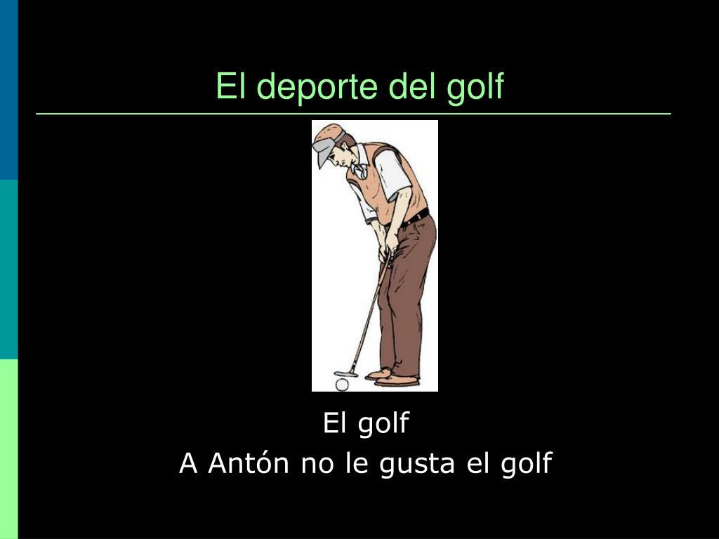 El deporte del golf
