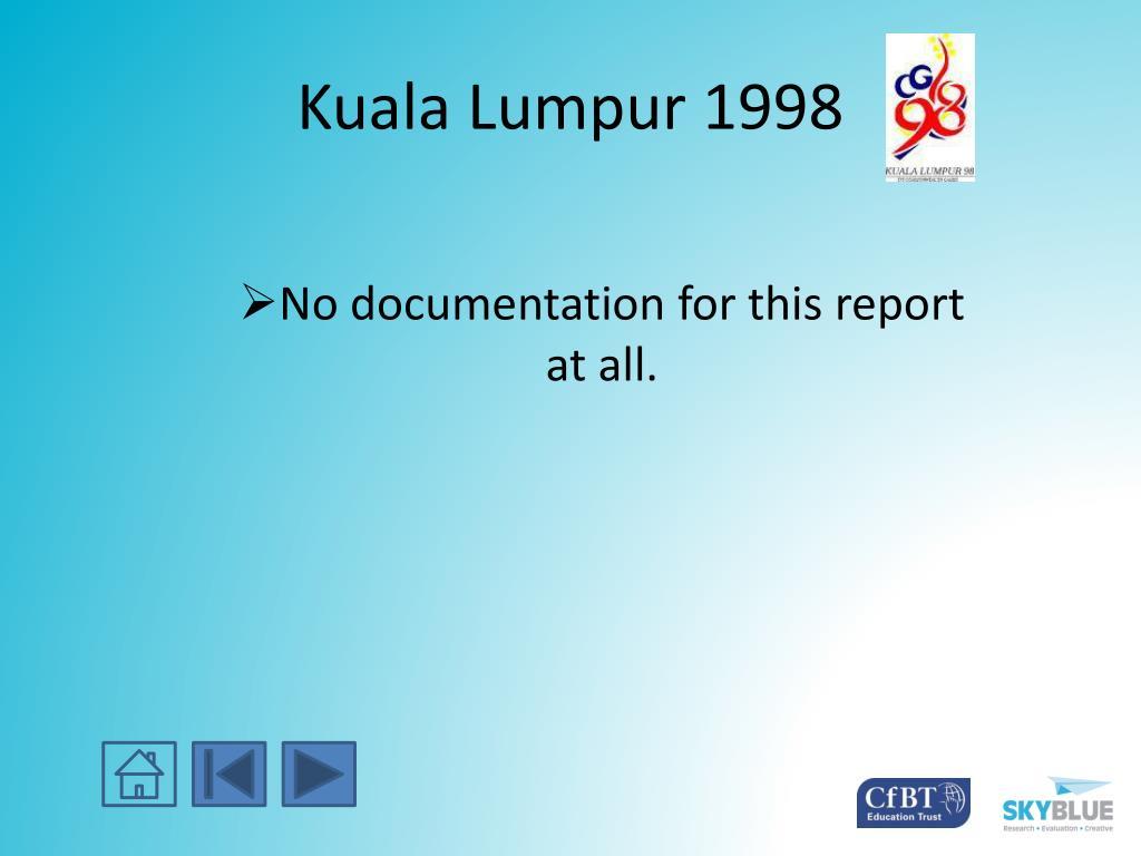 Kuala Lumpur 1998