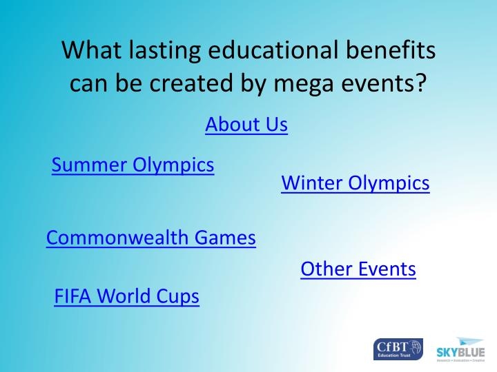 What lasting educational benefits can be created by mega events