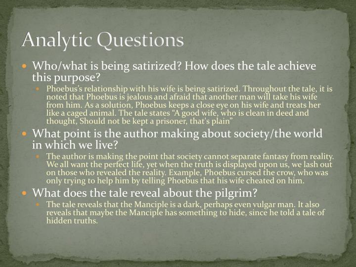 Analytic Questions
