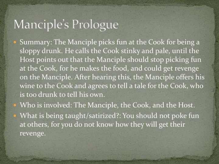 Manciple's Prologue