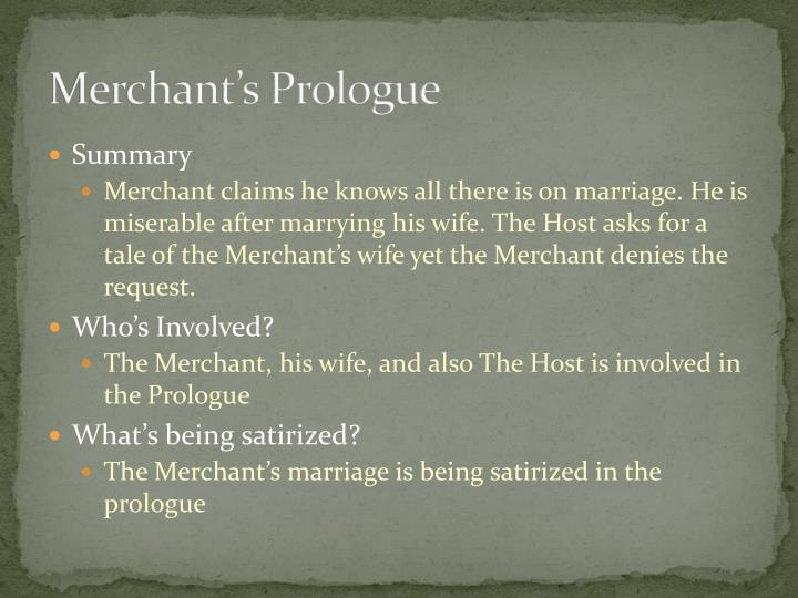 Merchant's Prologue