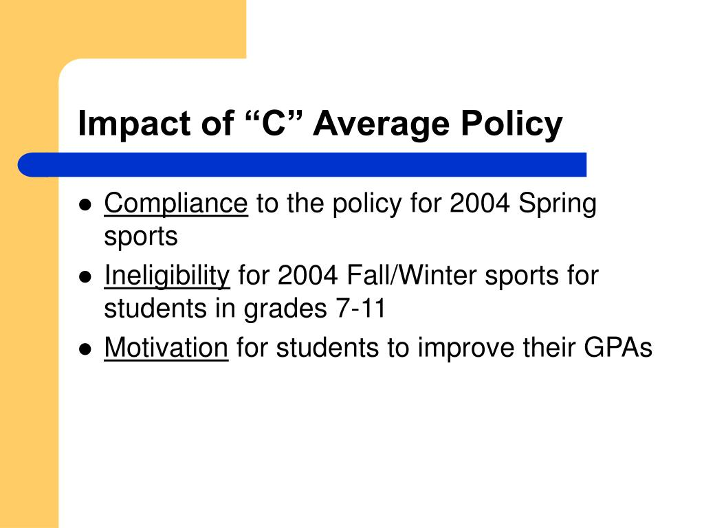 "Impact of ""C"" Average Policy"