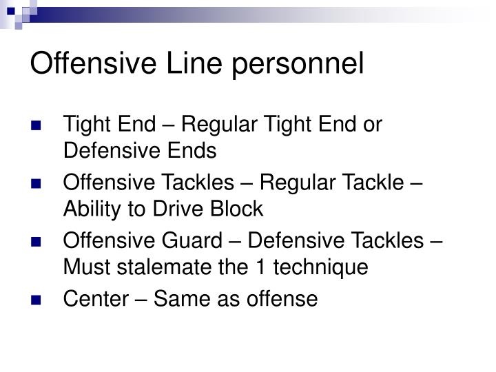Offensive Line personnel