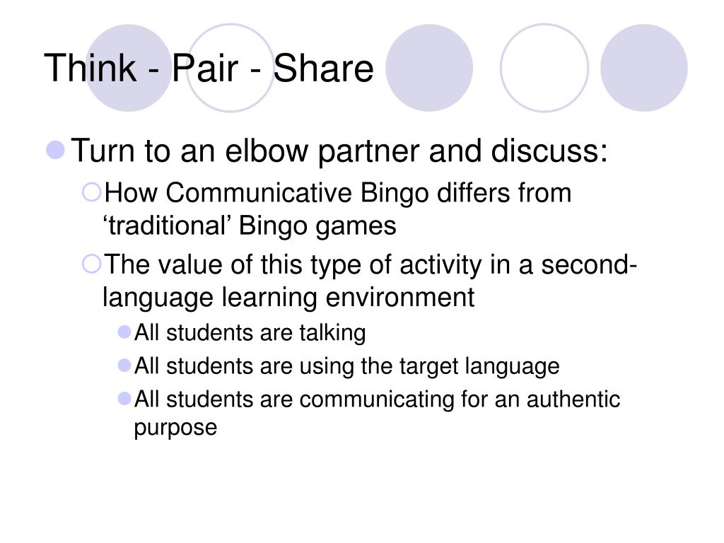 Think - Pair - Share