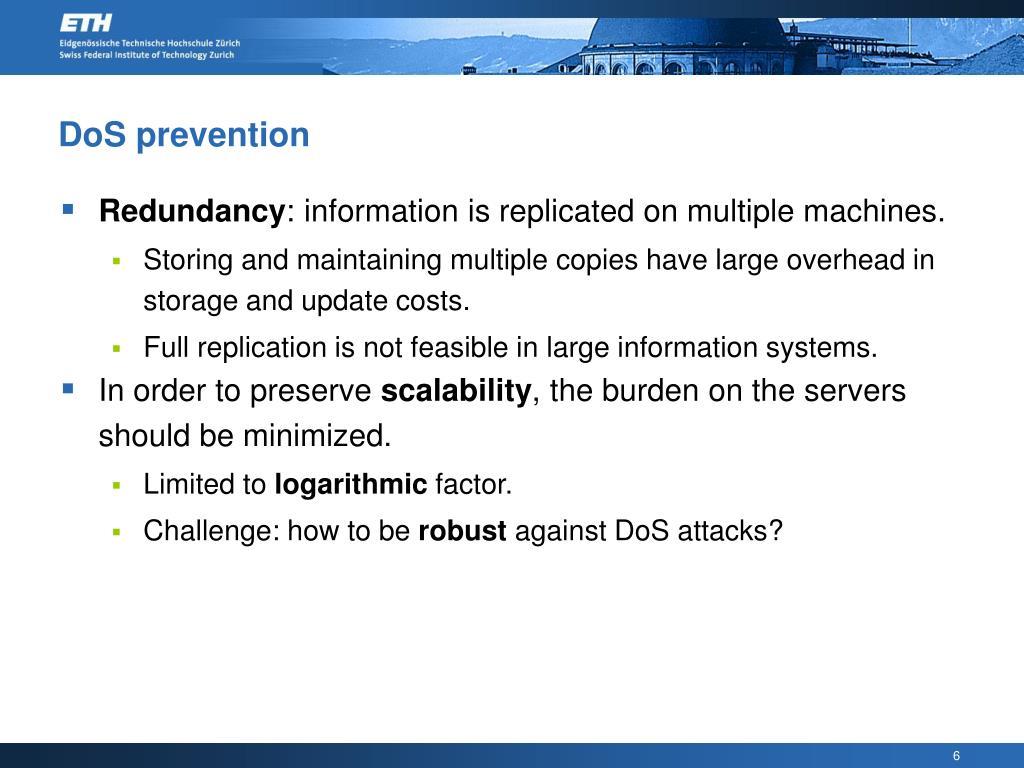 DoS prevention