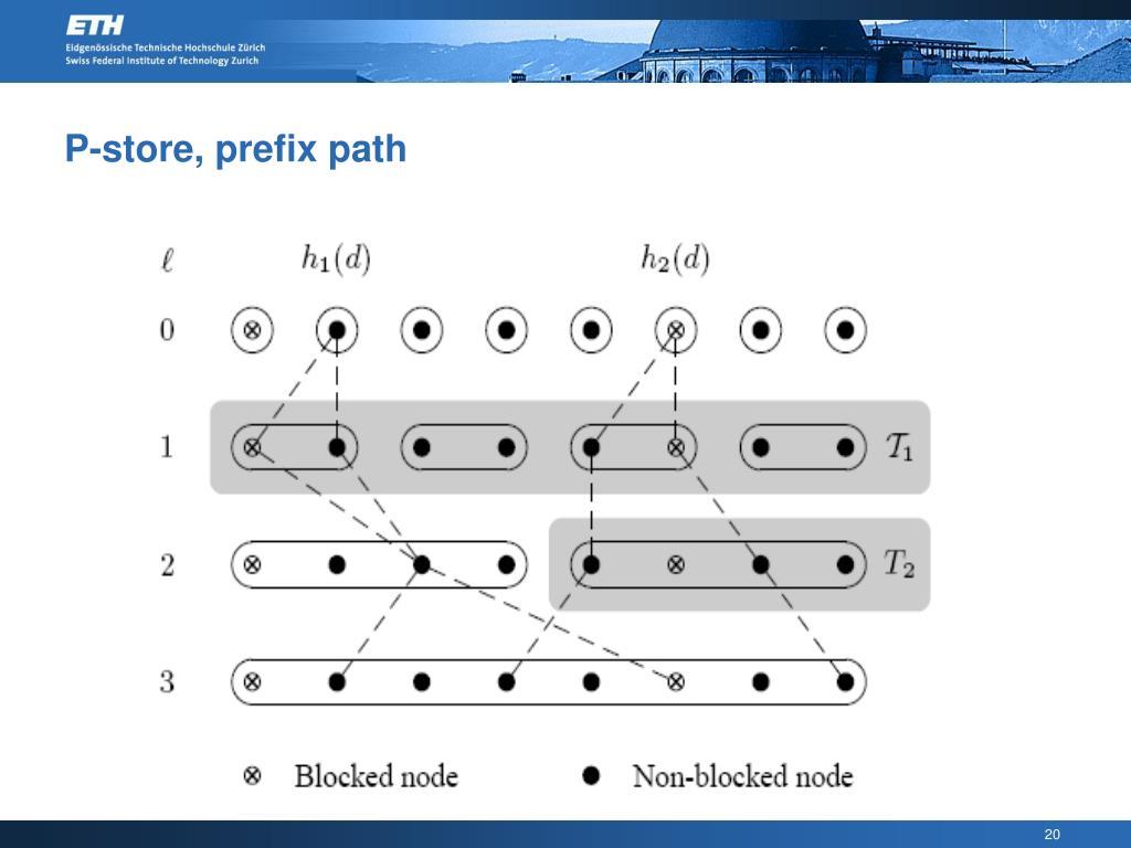 P-store, prefix path