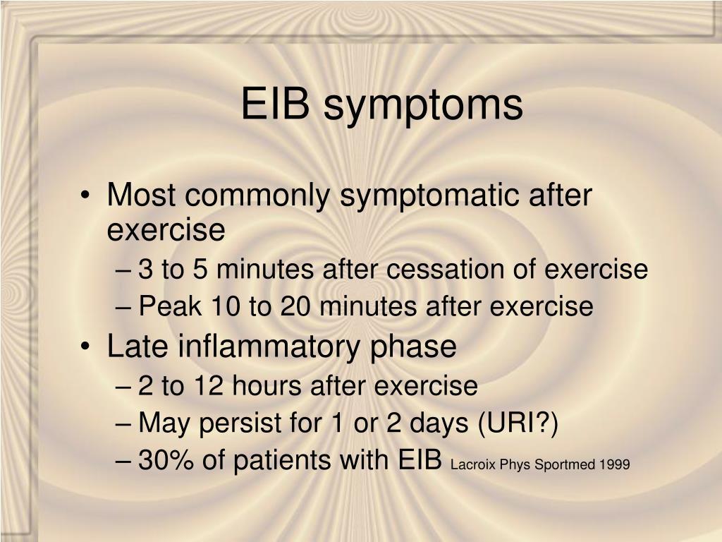 EIB symptoms