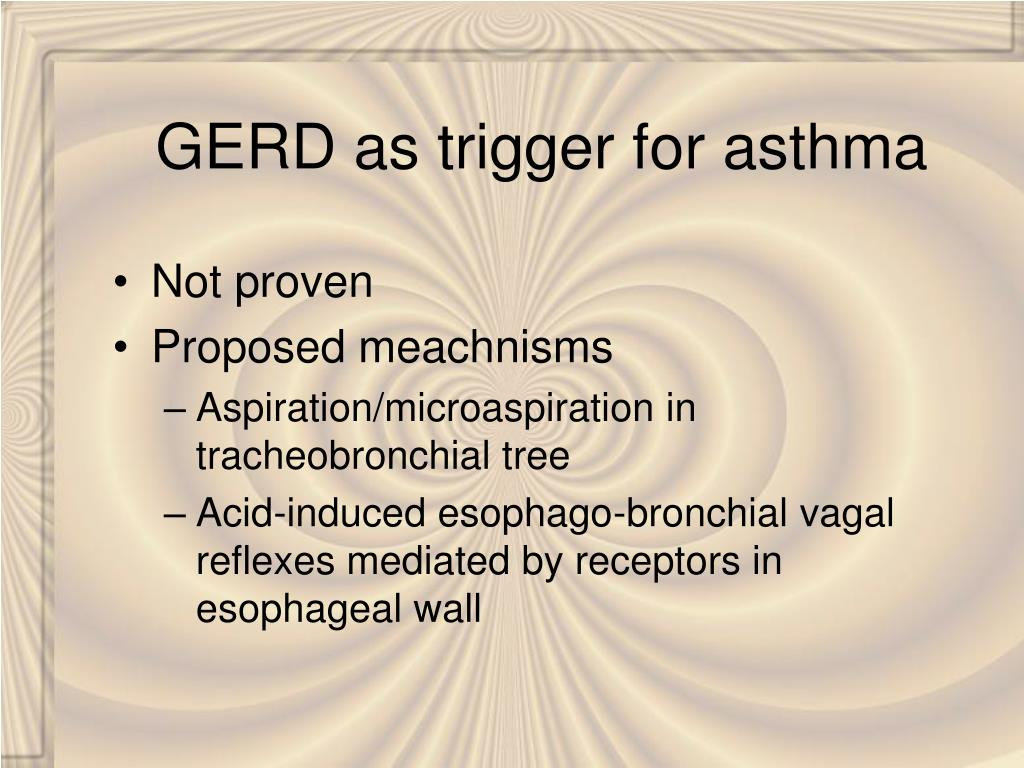 GERD as trigger for asthma
