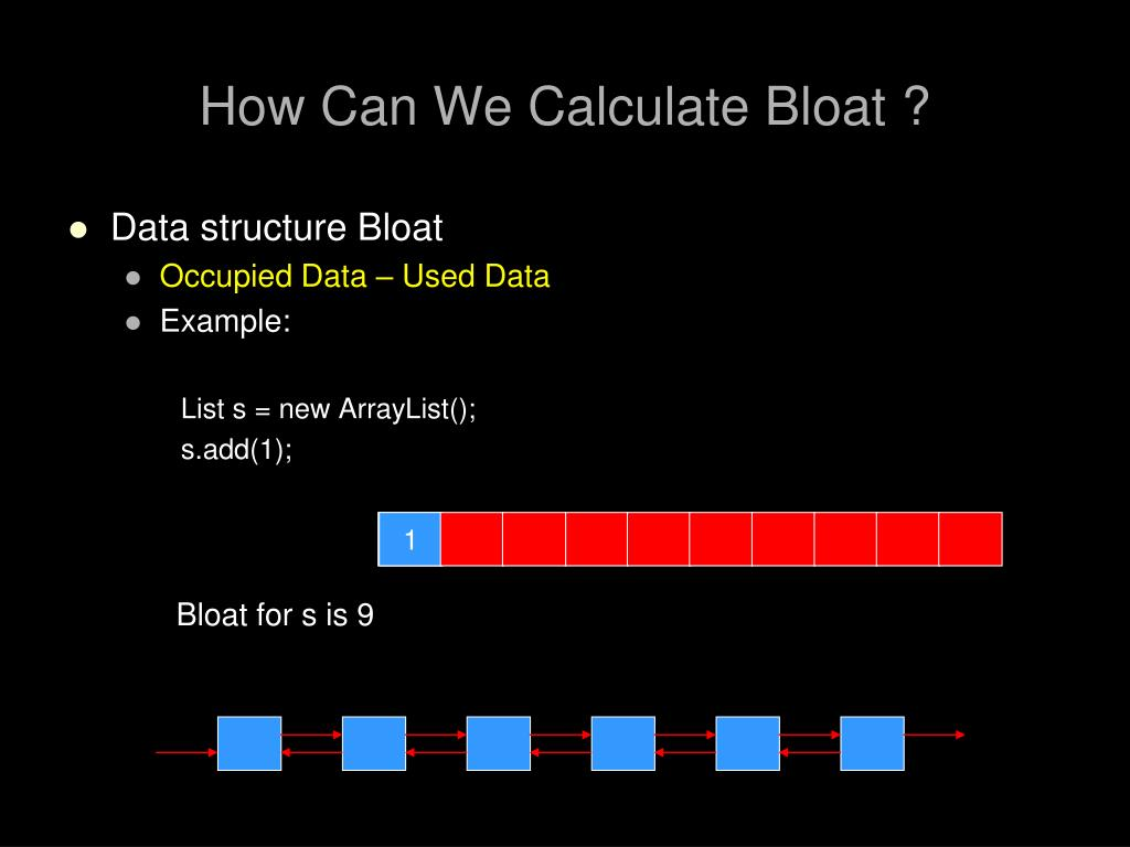 How Can We Calculate Bloat ?