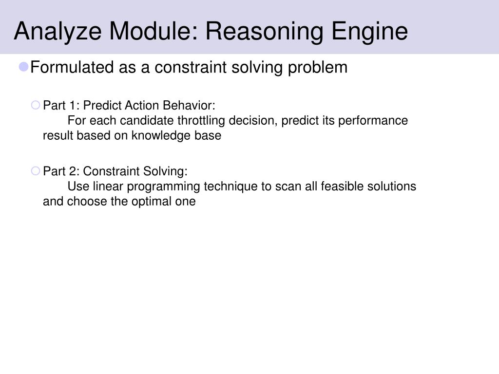 Analyze Module: Reasoning Engine
