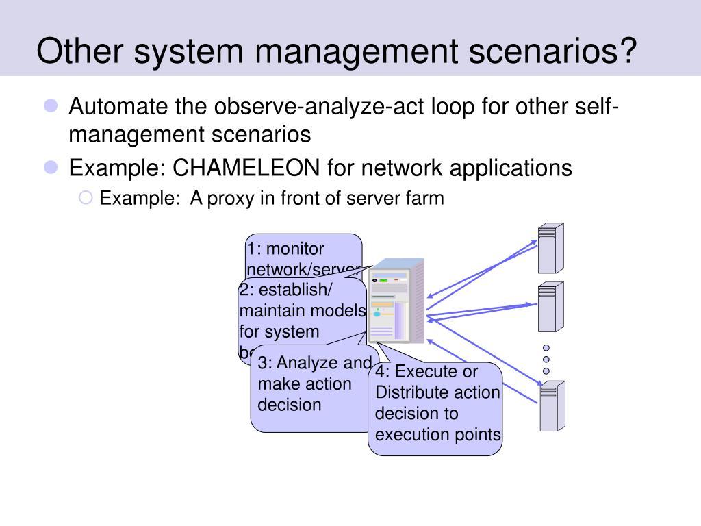 1: monitor network/server behaviors