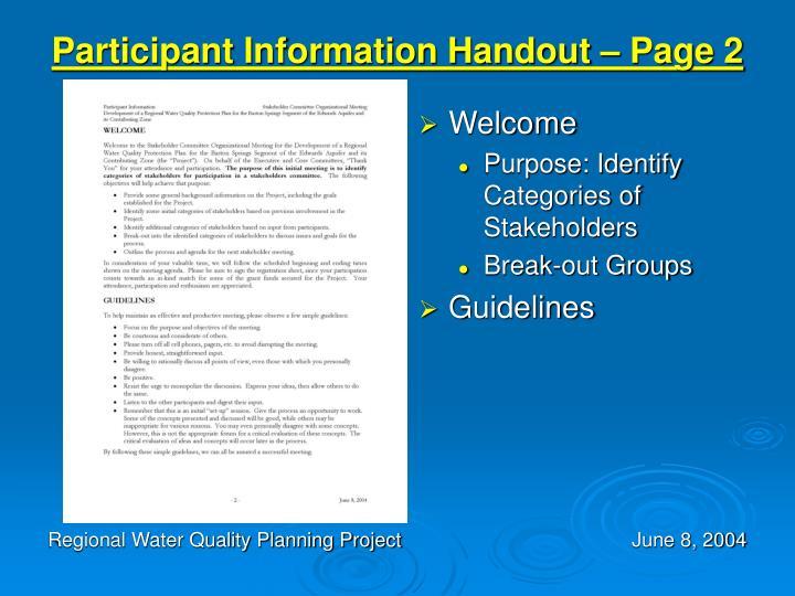 Participant Information Handout – Page 2