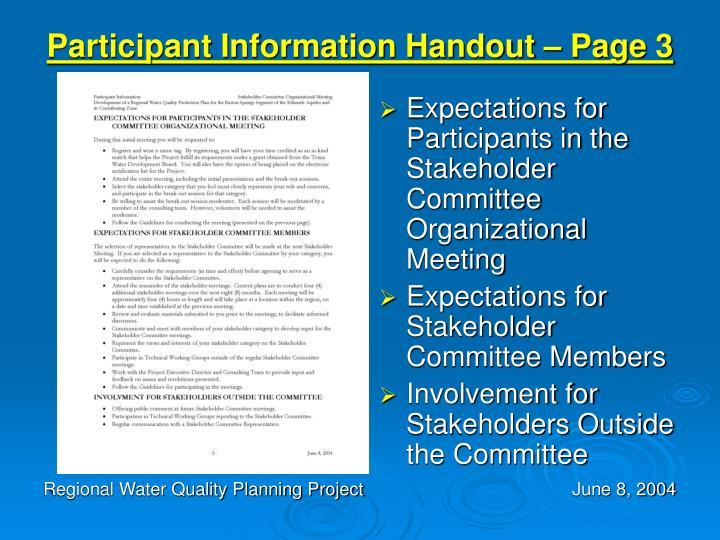 Participant Information Handout – Page 3