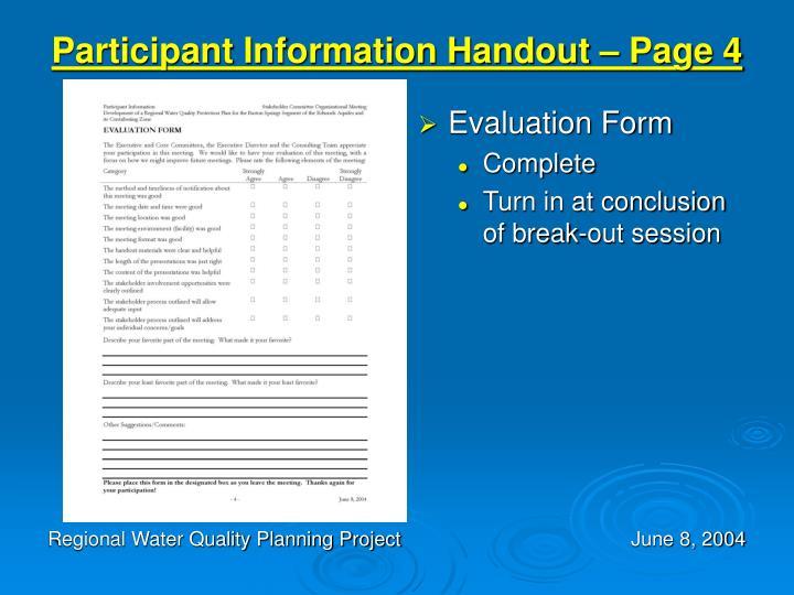 Participant Information Handout – Page 4