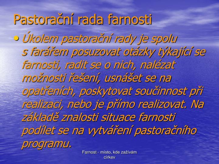 Pastorační rada farnosti