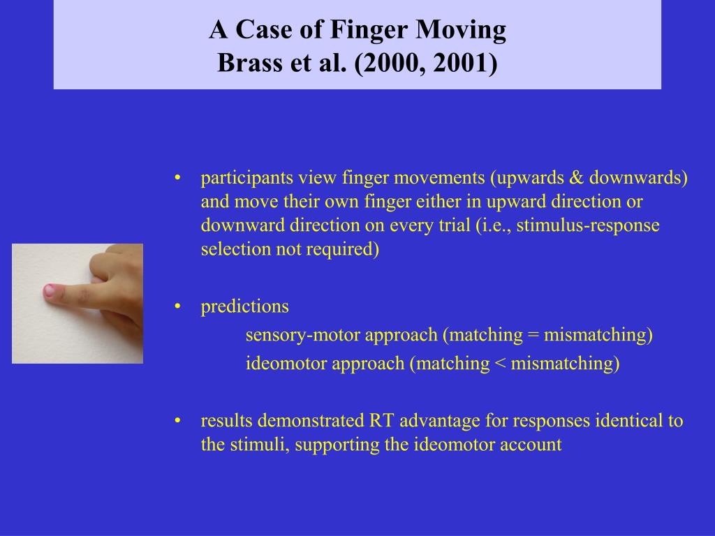 A Case of Finger Moving