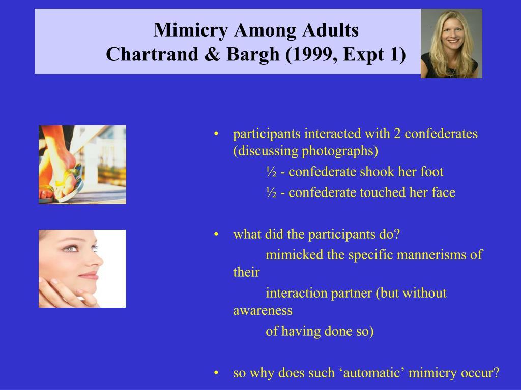 Mimicry Among Adults