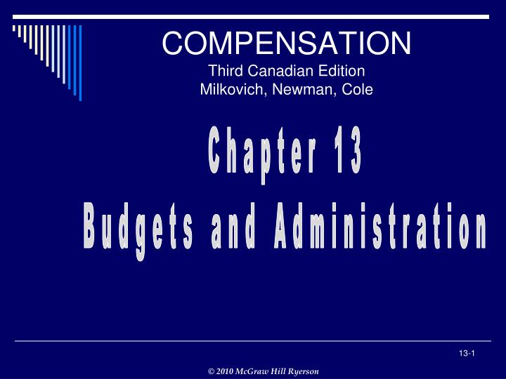 Compensation third canadian edition milkovich newman cole