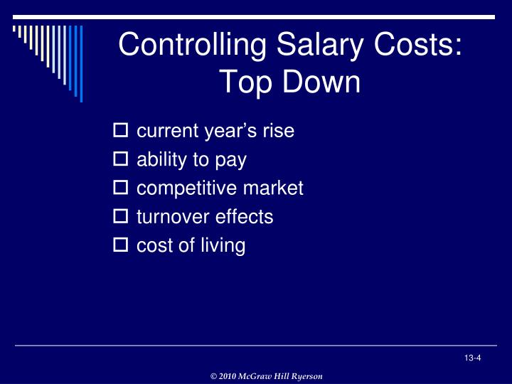 Controlling Salary Costs: Top Down
