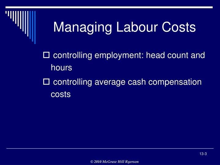Managing labour costs1