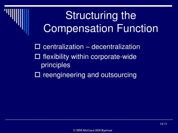 Structuring the Compensation Function