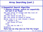 array searching cont