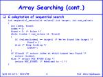 array searching cont4