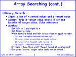 array searching cont5