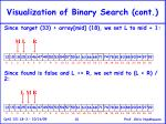 visualization of binary search cont10