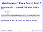 visualization of binary search cont11