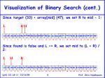 visualization of binary search cont9