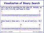 visualization of binary search