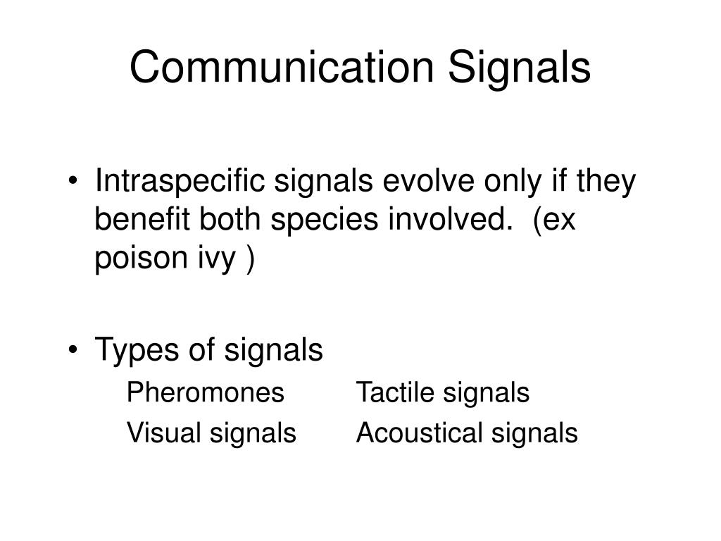 Communication Signals