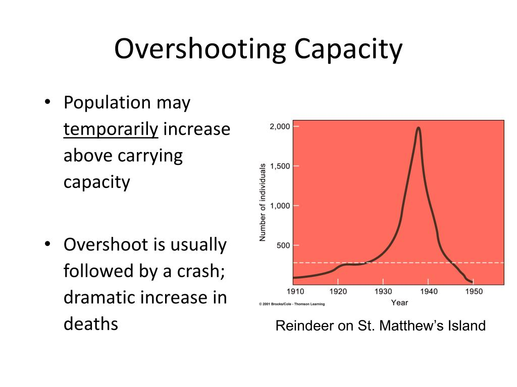Overshooting Capacity