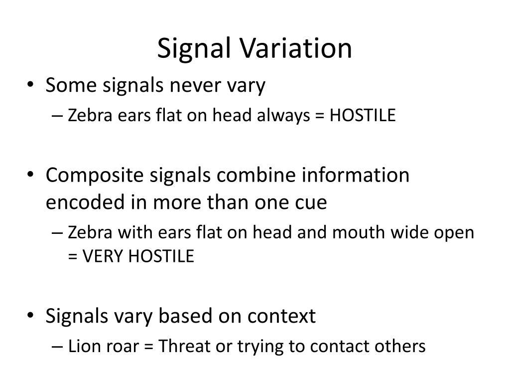 Signal Variation