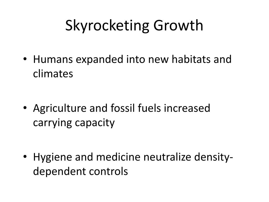 Skyrocketing Growth