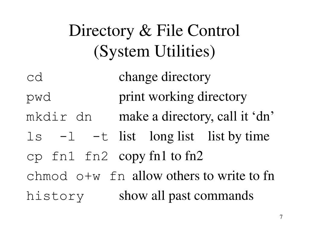 Directory & File Control