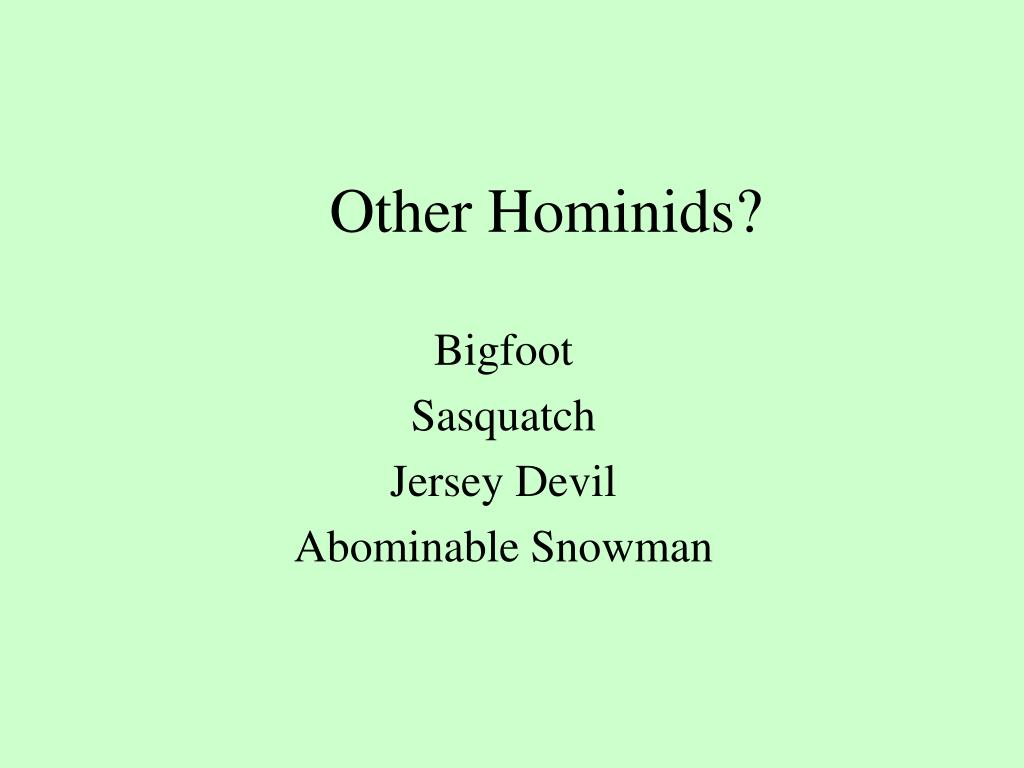 Other Hominids?