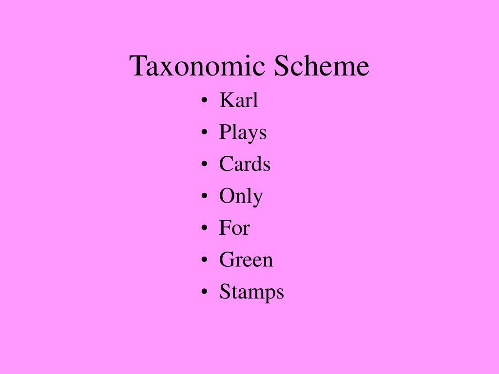 Taxonomic Scheme