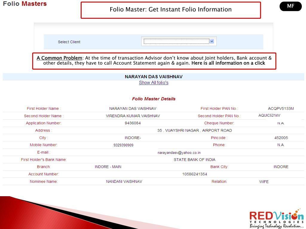 Folio Master: Get Instant Folio Information