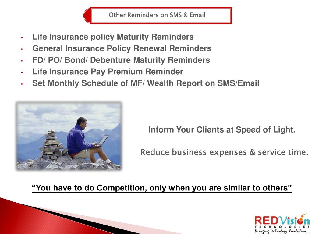 Other Reminders on SMS & Email