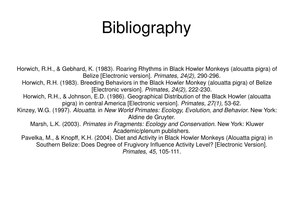 Horwich, R.H., & Gebhard, K. (1983). Roaring Rhythms in Black Howler Monkeys (alouatta pigra) of Belize [Electronic version].