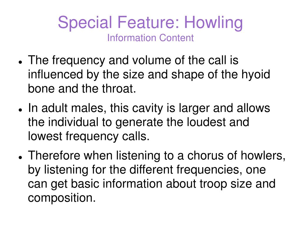 Special Feature: Howling