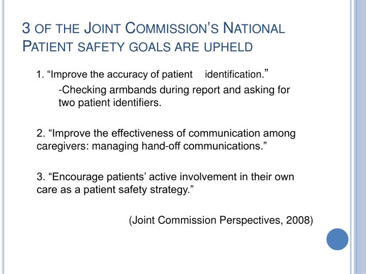joint commission national patient safety goals 2011 national patient safety goals joint commission  improving patient-provider communication: joint commission standards and federal laws (part 1.