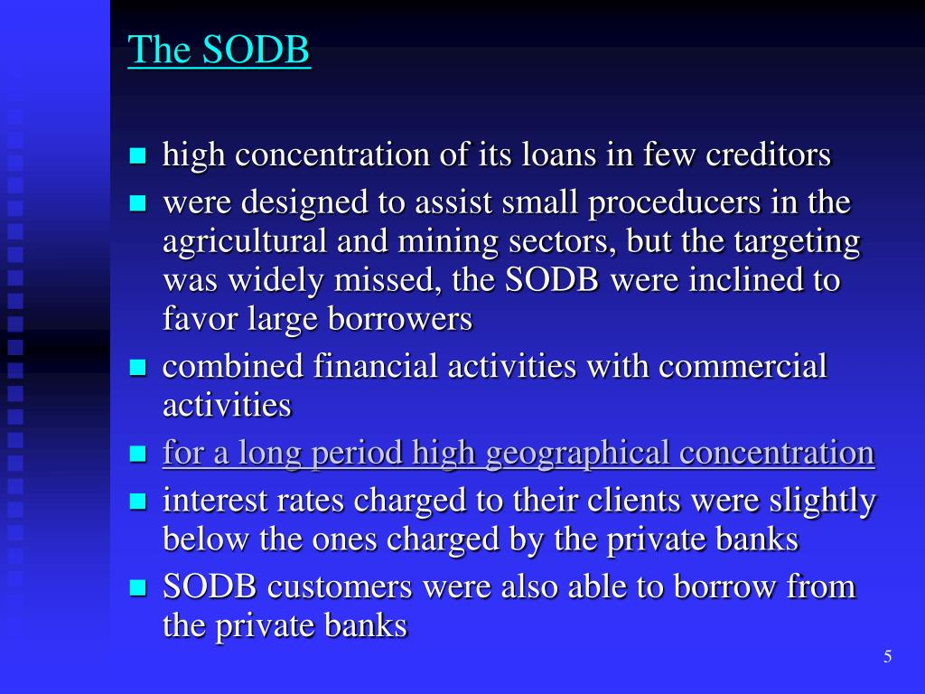 The SODB