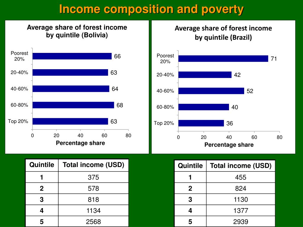 Income composition and poverty