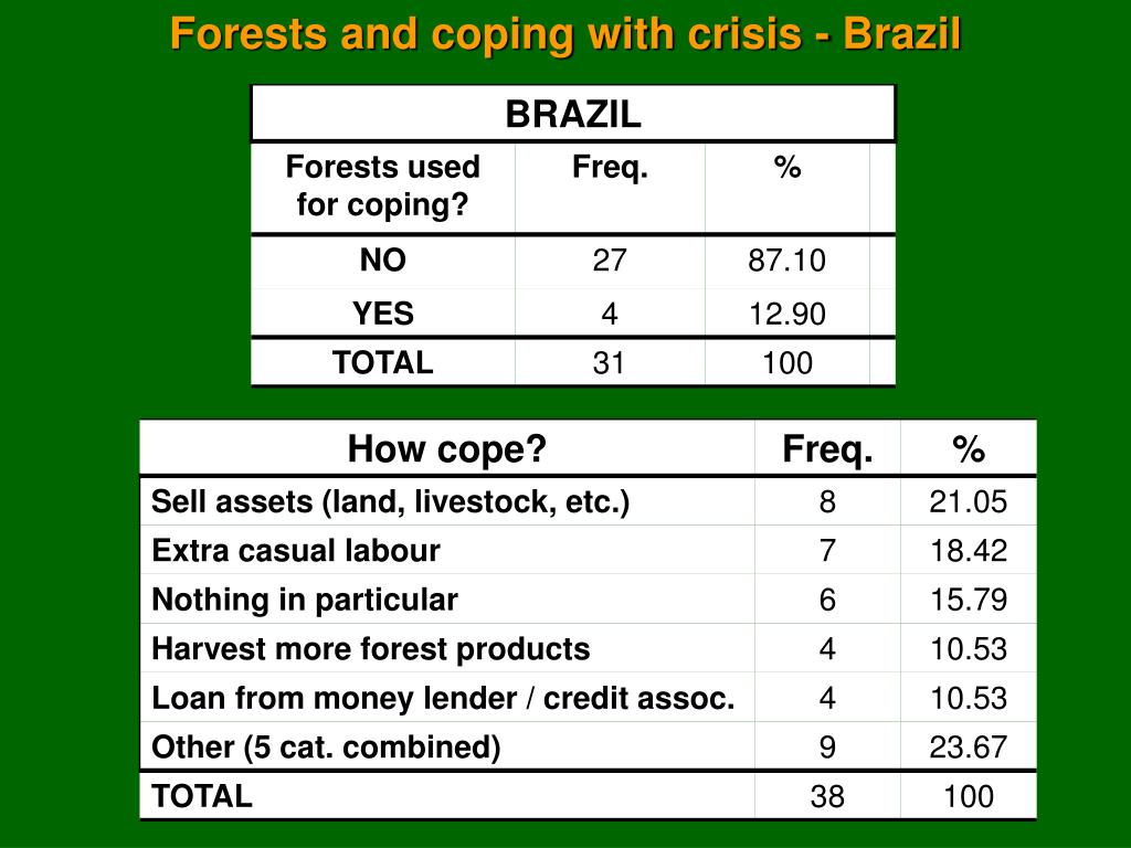 Forests and coping with crisis - Brazil