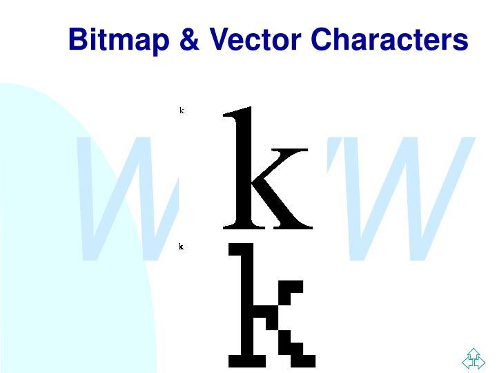 Bitmap & Vector Characters